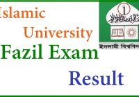 Fazil Final Year Result 2019 Session 2014-15 Islamic University
