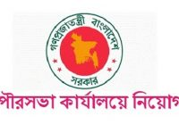 Municipality Office Job Circular 2018 Govt Jobs