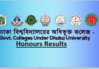 DU Included Colleges Honours 2nd Year Result 2017 www.du.ac.bd