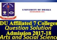DU 7 College Admission Question Solution 2017-18 | Arts And Social Science Unit