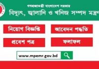 Ministry of Power Energy and Mineral Resources MPEMR Job Circular 2018