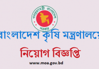 Ministry Of Agriculture MOA Job Circular 2018 www.moa.gov.bd