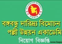 BAPARD Job Circular 2019 www.bapard.gov.bd